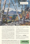 Sinclair Oil Mt Chocorua NH Ad