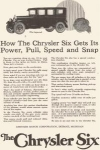 Click here to enlarge image and see more about item w0399: 1924 Chrysler Six Imperial Ad