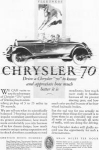 Click here to enlarge image and see more about item w0405: 1927 Chrysler 70 Roadster  Motor Car Ad