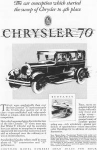 Click here to enlarge image and see more about item w0406: 1927 Chrysler 70 mph 4 Door Motor Car Ad w0406