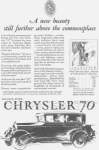 1927 Chrysler 70 2 Door Motor Car Ad w0407