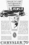 1927 Chrysler 70 4 Door Motor Car Ad w0408