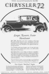 Click here to enlarge image and see more about item w0409: 1927 Chrysler 72 2 Door Motor Car Ad w0409