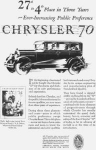 Chrysler 70  Sedan Ad