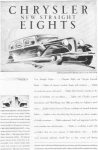 1930 Chrysler New Straight Eights Ad
