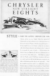Click here to enlarge image and see more about item w0418: 1930 Chrysler New Straight Eights Ad w0418