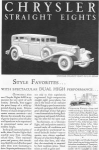 1931 Chrysler Straight Eights Ad w0419