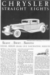 Click here to enlarge image and see more about item w0420: 1931 Chrysler Straight Eights Ad