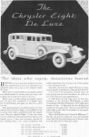 Click here to enlarge image and see more about item w0423: 1931 Chrysler Eight De Luxe Ad
