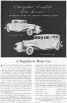 Click here to enlarge image and see more about item w0424: 1931 Chrysler Eight De Luxe Ad