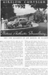 Click here to enlarge image and see more about item w0427: 1934 Chrysler Airflow Streamline Ad w0427