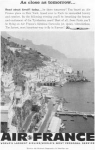 Click here to enlarge image and see more about item w0454: Air France Amalfi Ad