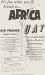 Click here to enlarge image and see more about item w0455: Air France UAT Airline to Africa Ad