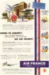 Click here to enlarge image and see more about item w0463: Air France Going To Europe Ad w0463