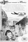 Click here to enlarge image and see more about item w0466: Air France Ad 1948