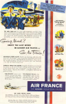 Click here to enlarge image and see more about item w0468: Air France Ad 1952