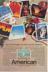 Click here to enlarge image and see more about item w0472: American Airlines American Express Ad w0472