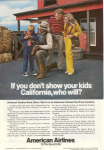 Click here to enlarge image and see more about item w0475: American Airlines California Ad w0475