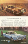 Lincoln Continental and Mark III Ad