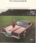 Lincoln Continental Mark III Ad