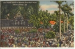 Click here to enlarge image and see more about item w0529: Tote Board at Hialeah Race Track Postcard