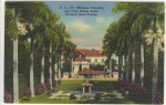 Widener Fountain Hialeah Park Miami FL Postcard w0544