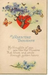 Click here to enlarge image and see more about item w0578: Valentine  Thoughts Postcard 1920s