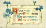 Click here to enlarge image and see more about item w0642: Birthday  Postcard w0642 Vintage