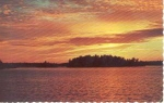 Click here to enlarge image and see more about item w0696: Charleston Lake Ontario Canada Sunset Postcard w0696