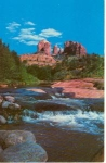 Click here to enlarge image and see more about item w0751: Oak Creek Canyon AZ Courthouse Rock Postcard