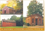 Historic Coventry, CT 3-View Postcard