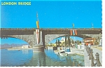 Click here to enlarge image and see more about item w0824: Lake Havasu City AZ London Bridge Postcard w0824