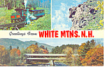 Views in White Mountains ,NH Postcard