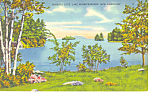 Roberts Cove Lake Winnipesaukee ,NH Postcard 1941