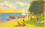 Lake Shore Park Lake Winnipesaukee ,NH Postcard