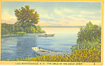 Great Spirit Lake Winnipesaukee ,NH Postcard 1943