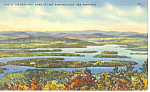 Beautiful Lake Winnipesaukee ,NH Postcard 1946