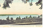 Lake Winnipesaukee ,NH Hand Colored Postcard 1938