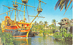 Click here to enlarge image and see more about item w0857: Pirate Ship, Fantasyland, Disneyland, CA Postcard