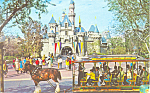 Click here to enlarge image and see more about item w0863: Sleeping Beauty Castle, Disneyland, CA Postcard