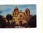 Click here to enlarge image and see more about item x0035: San Carlos Mission Carmel CA  Postcard x0035