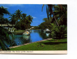Fort Lauderdale FL Waterway Postcard x0037