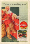 Click here to enlarge image and see more about item x0077:  1941 Coca Cola Santa Claus Ad x0077