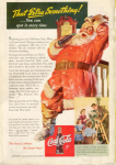 Click here to enlarge image and see more about item x0078:  Coca Cola Santa Claus Ad Dec 1942