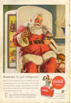 Click here to enlarge image and see more about item x0079:  1947 Coca Cola Santa Claus Ad x0079