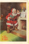 Click here to enlarge image and see more about item x0080:  1963 Coca Cola Santa Claus Ad x0080