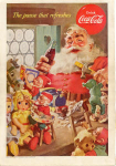 Click here to enlarge image and see more about item x0082:  1953 Coca Cola Santa Claus Ad x0082