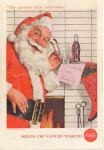 Click here to enlarge image and see more about item x0083:  1957 Coca Cola Santa Claus Ad x0083