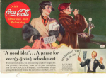 Click here to enlarge image and see more about item x0098:  Coca Cola  Ad Ray Noble Ca. 1935