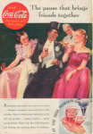 Click here to enlarge image and see more about item x0100:  Coca Cola  Ad x0100  April 1935